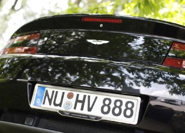 CarSign Edelstahl gebürstet und Inlay für Aston Martin