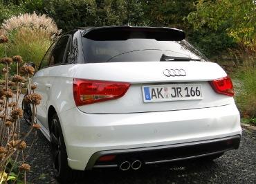 Edelstahl Kennzeichenhalter lackiert in Wagenfarbe Audi A1