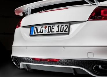 Variante Kennzeichenhalter Edelstahl schwarz-glanz für Audi TTRS