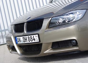 Kennzeichenhalter Edelstahl schwarz-matt BMW 3er Kombi