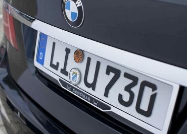 BMW 7er Kennzeichenhalter Edelstahl Chrom von SANSIBAR Sylt