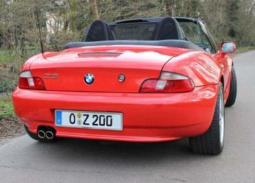 BMW Kennzeichenhalter Edelstahl gebürstet für BMW Z3