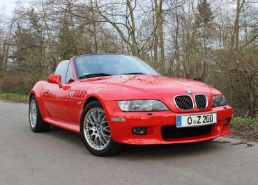 BMW Z3 Kennzeichenhalter Edelstahl gebürstet mit Frontbiegung