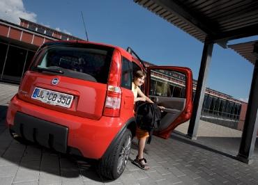 Kennzeichenhalter FIAT Panda mit Edelstahl Chrom und CarSign Inlay