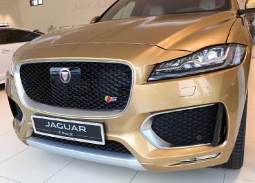 Jaguar F-Pace mit CarSign Edelstahl Chrom und Gravur