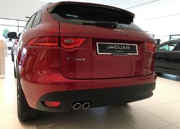 Jaguar F-Pace Kennzeichenhalter Edelstahl Chrom und Inlay