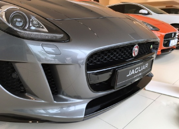 Jaguar F-Type CarSign Kennzeichenhalter schwarz-glanz