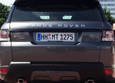 Range Rover Sport Kennzeichenhalter Fuhrpark Edelstahl gebuerstet