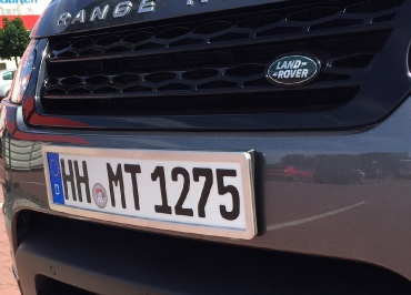 Range Rover Sport Kennzeichenhalter Edelstahl gebuerstet