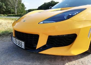 Lotus Evora CarSign Kennzeichenhalter mit Frontbiegung