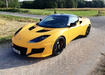 Lotus Evora CarSign Kennzeichenhalter schwarz-matt