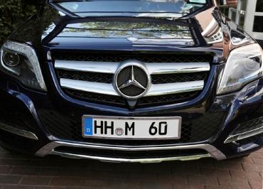 GLK Kennzeichenhalter Mercedes Edelstahl verchromt
