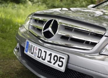 Kennzeichenhalterung Mercedes C-Klasse W204 Edelstahl Chrom
