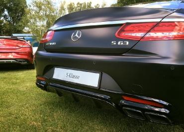 S63 Coupé Kennzeichenhalter Edelstahl schwarz-matt und Lasergravur