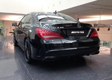 CLA 45 AMG Kennzeichenhalterung CarSign Edelstahl schwarz-matt