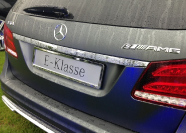 Kennzeichenhalter Mercedes E-Klasse Edelstahl Chrom