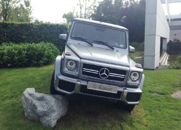 Edelstahl poliert Kennzeichenhalter Mercedes-Benz G-Klasse