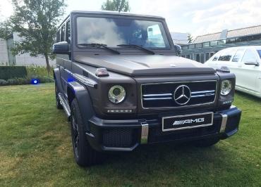G-Klasse Kennzeichenhalter Mercedes-Benz in Edelstahl verchromt