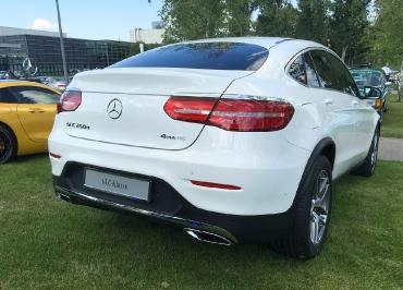 GLC Kennzeichenhalter Mercedes-Benz mit Chrom-Paket