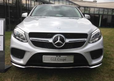 GLE Coupé Kennzeichenhalter Mercedes für Chrompaket Front