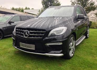 Kennzeichenhalter Mercedes M-Klasse und Edelstahl verchromt