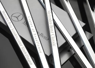Kennzeichenhalter original für Mercedes-Benz Edelstahl Chrom Lasergravur