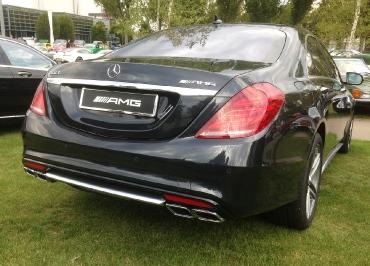 Kennzeichenhalter Mercedes-Benz Edelstahl Chrom mit Heckbiegung
