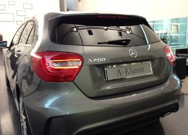 Kennzeichenhalter A-Klasse Mercedes-Benz mit klassischem Edelstahl verchromt