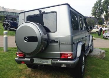 G-Klasse Kennzeichenhalter Mercedes-Benz in Edelstahl Chrom