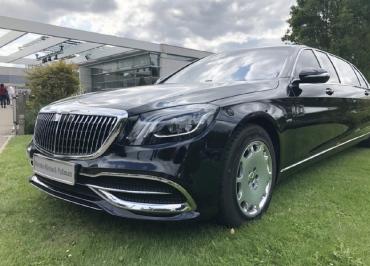 Kennzeichenhalter Mercedes-Benz Edelstahl Chrom Front S-Klasse