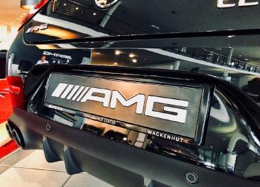Mercedes AMG Kennzeichenhalter für Händler