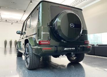 Mercedes G63 AMG Kennzeichenhalter schwarz-glanz