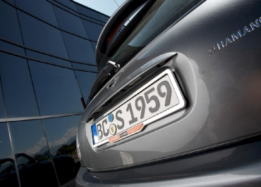MINI Cooper Kennzeichenhalter Edelstahl Chrom Inlay für Fuhrpark
