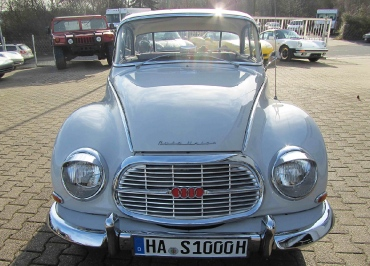DKW 1000S +  Kennzeichenhalter Edelstahl Chrom