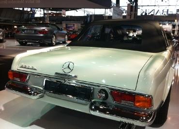 Mercedes Pagode mit Kennzeichenhalter Edelstahl Chrom