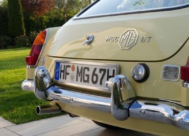 MG MGC  Kennzeichenhalter  CarSign Edelstahl poliert