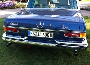 Mercedes-Benz 600 Kennzeichenhalterung