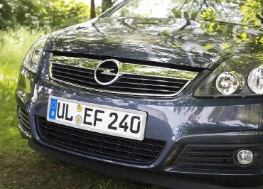 Kennzeichenhalter Edelstahl verchromt Opel Astra