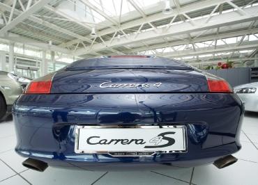 Porsche Kennzeichenhalter auffällig mit Edelstahl Chrom und Inlay