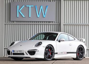 Porsche Kennzeichenhalter Edelstahl lackiert in Wagenfarbe und Frontbiegung