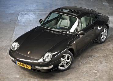 Porsche Kennzeichenhalter Edelstahl schwarz-matt Frontbiegung