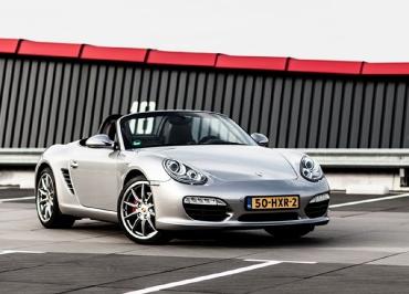 Porsche Boxster Kennzeichenhalter Edelstahl schwarz-matt