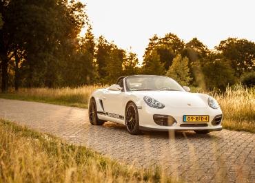 Porsche Boxster S Kennzeichenhalter Edelstahl schwarz-matt