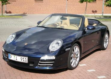 Porsche 911 Cabrio Kennzeichenhalter Edelstahl Chrom Frontbiegung