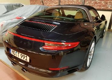 Kundenfoto Porsche Targa Kennzeichenhalter Edelstahl lackiert in Wagenfarbe