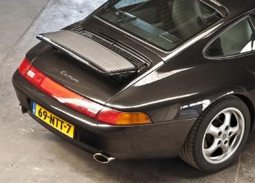 Porsche 993 Kennzeichenhalter Edelstahl schwarz-matt Kentekenplaathouder