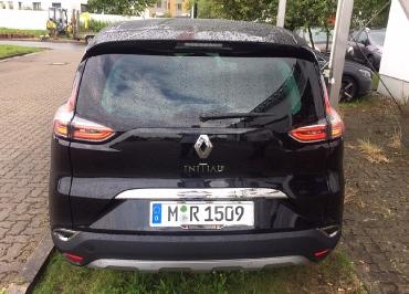 Kundenfoto Kennzeichenhalter Chrom Renault Espace Initiale mit Fuhrpark-Inlay