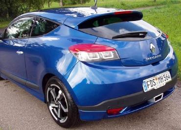 Kennzeichenhalter Edelstahl Chrom Renault Mégane und Inlay