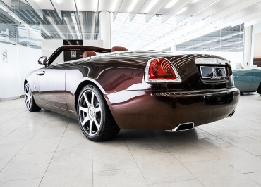 Rolls-Royce Cabrio mit Kennzeichenhalter Edelstahl Chrom und Inlay