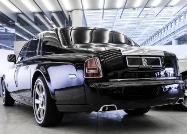Rolls-Royce Phantom Kennzeichenhalterung Edelstahl Chrom